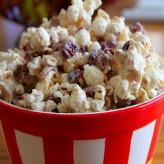 Cran-Apple White Chocolate Popcorn