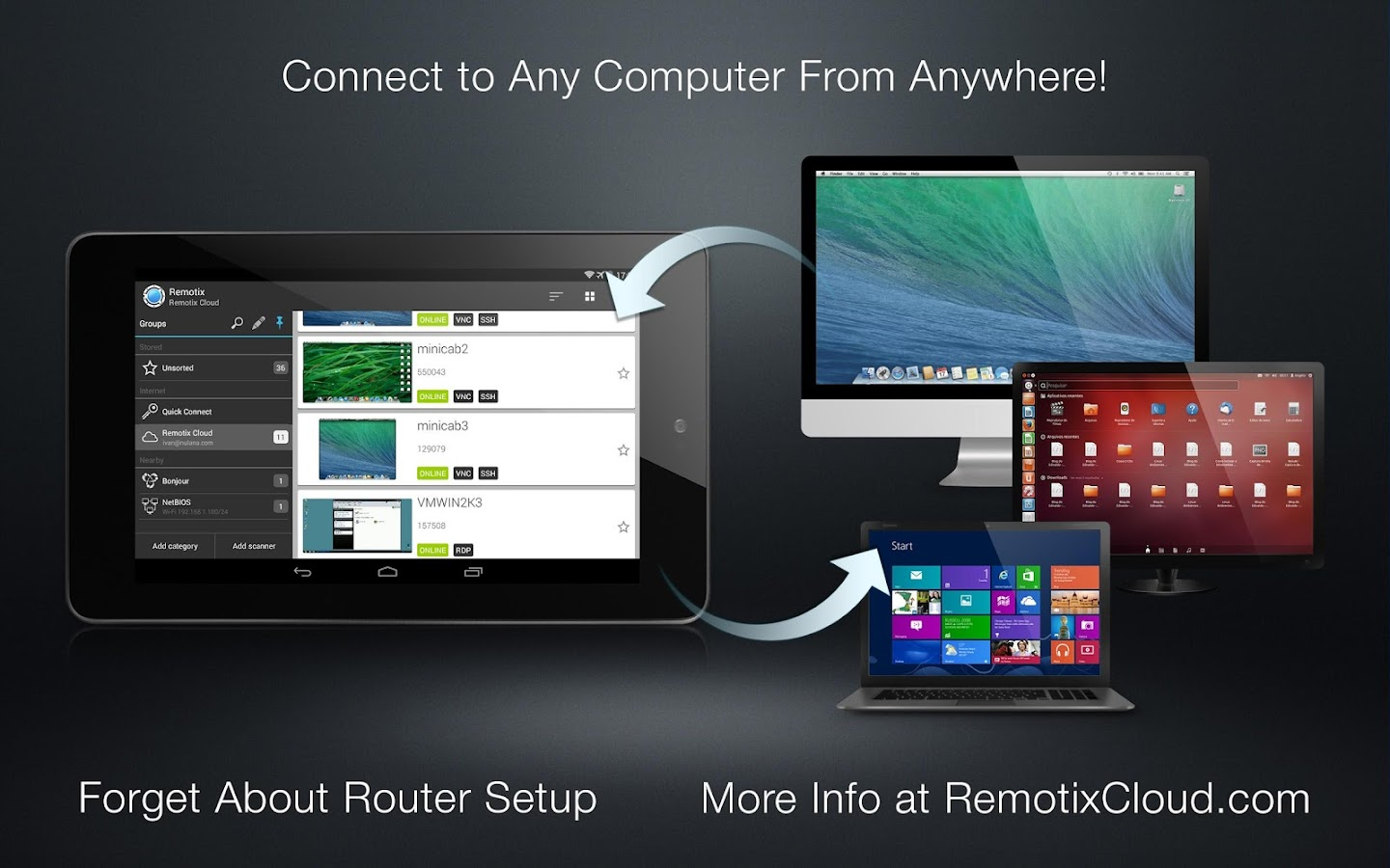Remotix VNC RDP Remote Desktop- screenshot