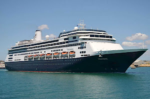 Holland America's Volendam departs from Fremantle Harbour in Western Australia.