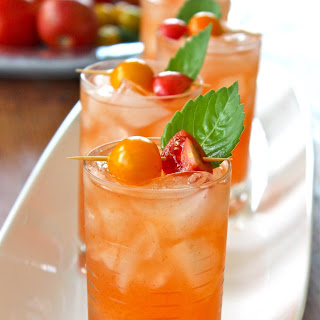 Tomato Water and Basil Bloody Mary.
