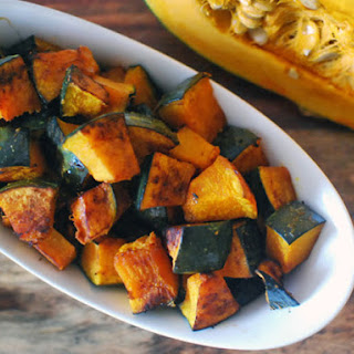 Roasted Kabocha Squash With Soy Sauce, Butter, and Shichimi Togarashi.