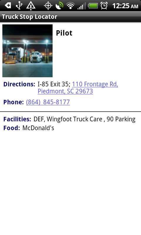 Truck Stop Locator- screenshot