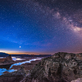 Alstrom Point Milky Way by Jeremy Jordan - Landscapes Starscapes ( nature, stars, arizona, long exposure, nikon, landscape, starscape, galaxy, nightscape, milky way )