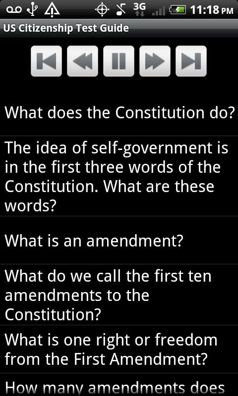 US Citizenship Test Guide 2013 - screenshot