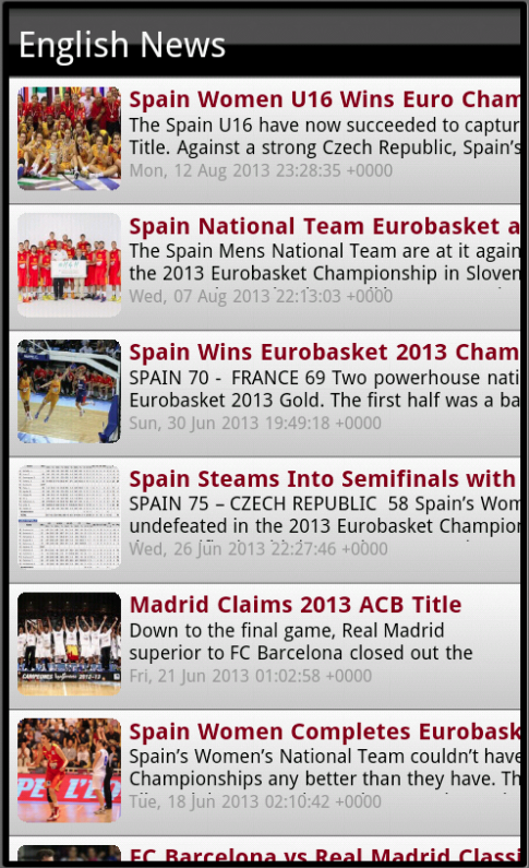 Spain Basketball - League News - screenshot