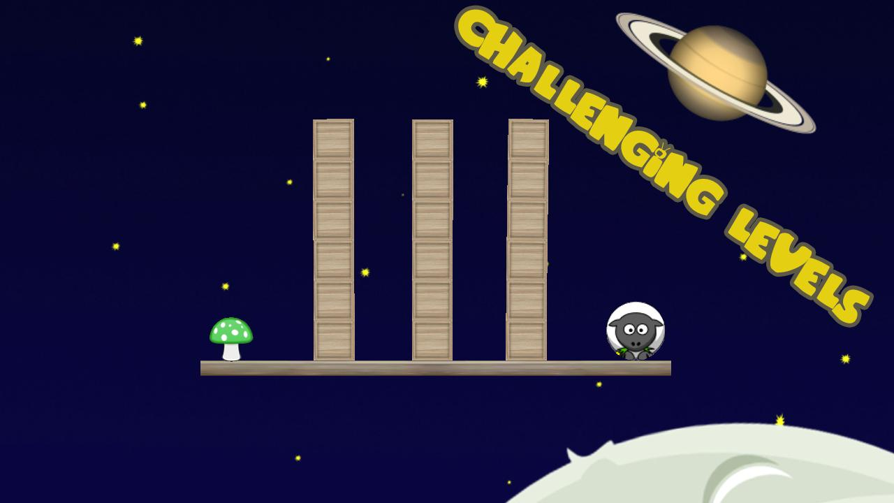 Gravity Sheep FREE(Physics 2d) - screenshot