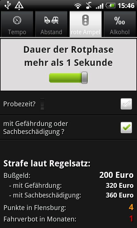 Bußgeldrechner Pro - screenshot