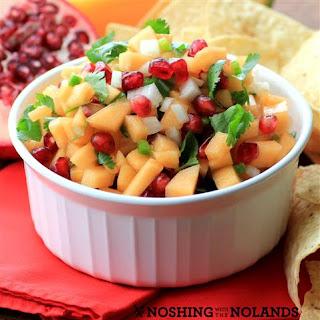 Cantaloupe Pomegranate Salsa