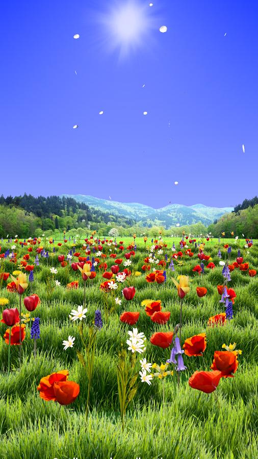 Google Calendar Live Wallpaper : Spring scene live wallpaper android apps on google play