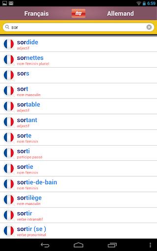【免費書籍App】Dictionnaire allemand-français-APP點子