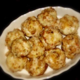 Baked Crab-Stuffed Mushroom.
