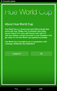 Hue World Cup for Philips Hue- screenshot thumbnail