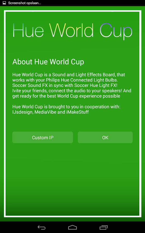 Hue World Cup for Philips Hue- screenshot