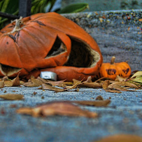 Smashed Pumpkin by Charles Ward - Public Holidays Halloween
