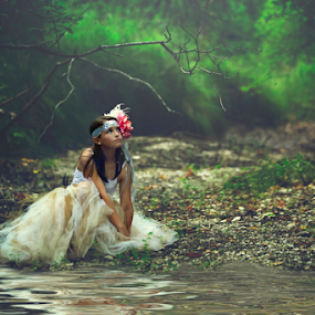 Untamed Forest by Shawnessy Ransom - Babies & Children Child Portraits ( water, fantasy, princess, magical, fine art photography, fine art, forest )
