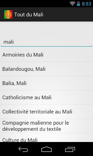 Tout du Mali et Bamako