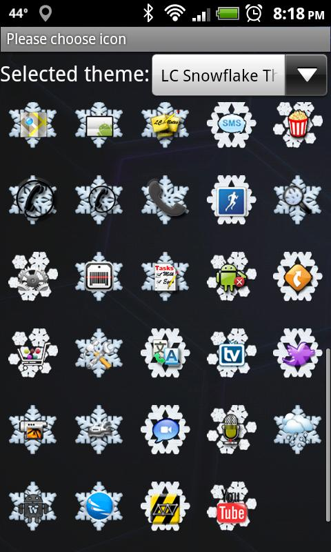 LC Snowflake Nova/Apex Theme- screenshot