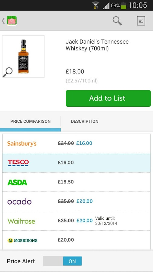 mySupermarket – Shopping List - screenshot