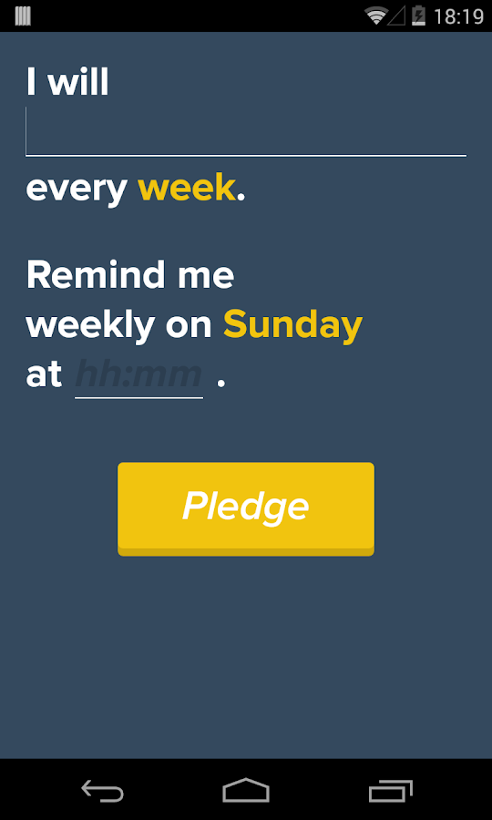 Pledge - Make New Habits- screenshot