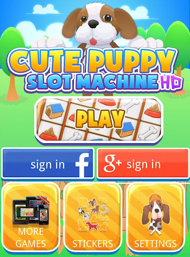 Cute Puppy Slot Machine HD Screen Capture 1