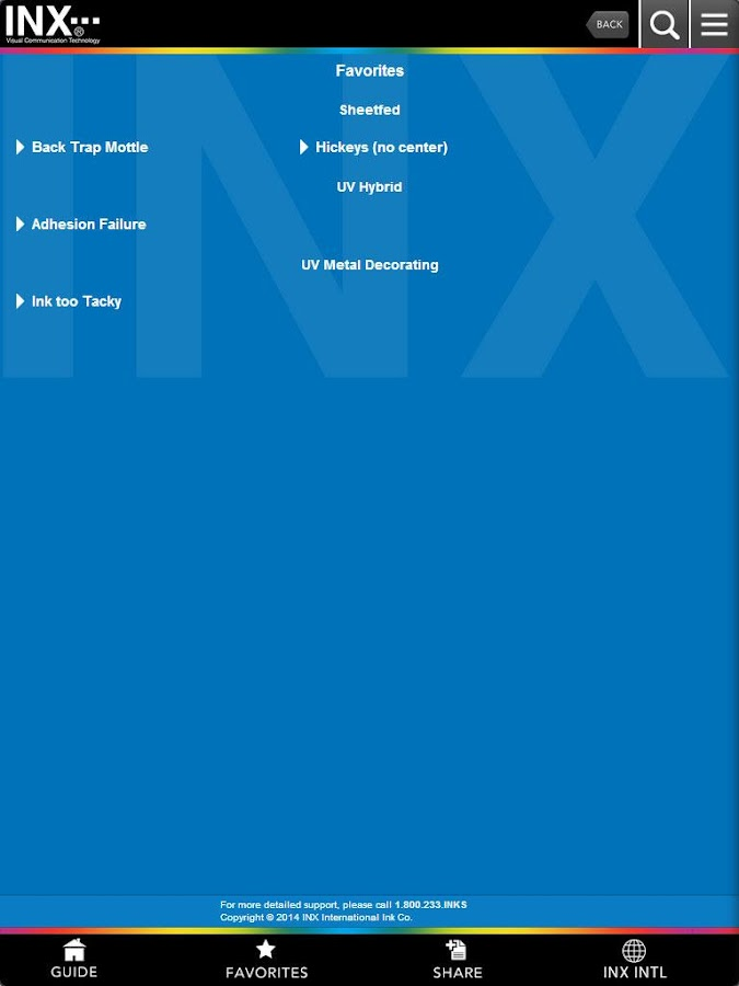 INX Troubleshooting Guide- screenshot