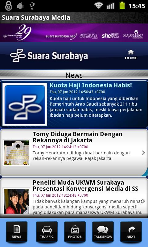 Suara Surabaya Mobile - screenshot