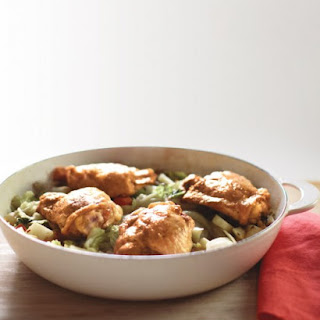 Braised Chicken Thighs with Winter Vegetables.