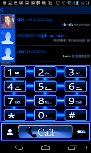ExDialer Theme Blue Neon