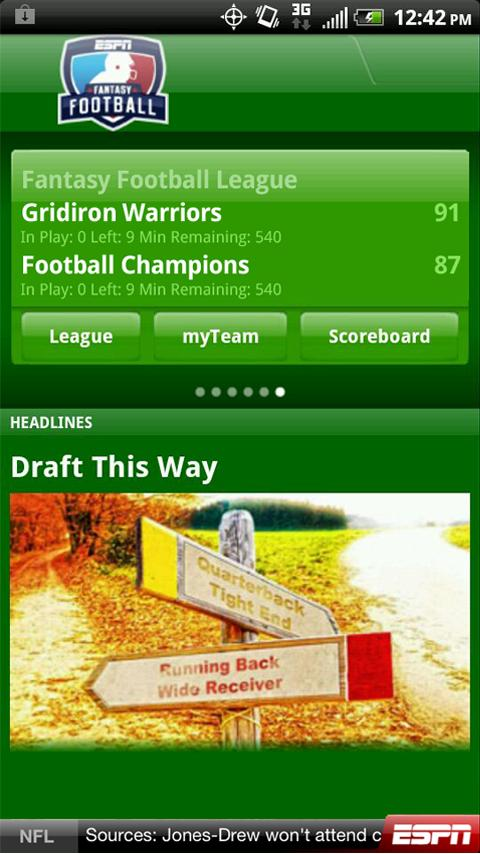 ESPN Fantasy Football - screenshot