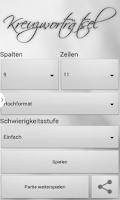 Screenshot of Kreuzworträtsel Deutsch