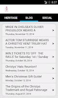 Screenshot of Christys' Hats