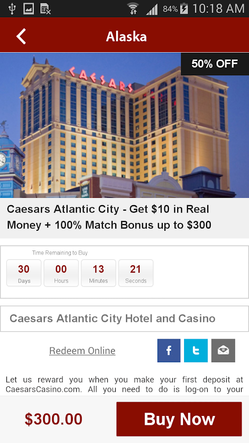 casino coupons