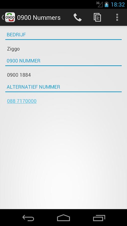 0900 Nummers Gratis - screenshot