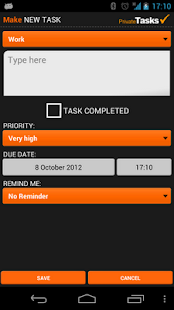 ToDo list - Private Tasks - screenshot thumbnail