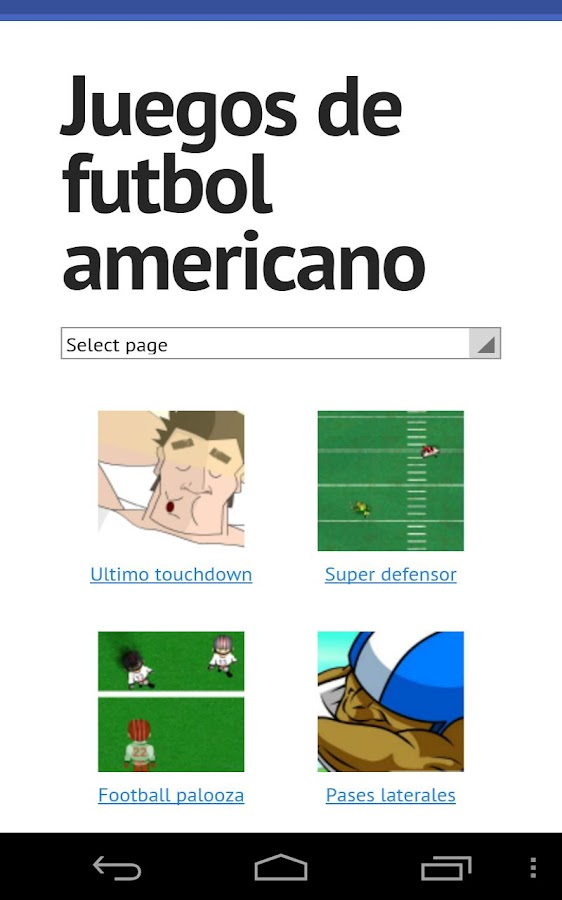 American football games - screenshot