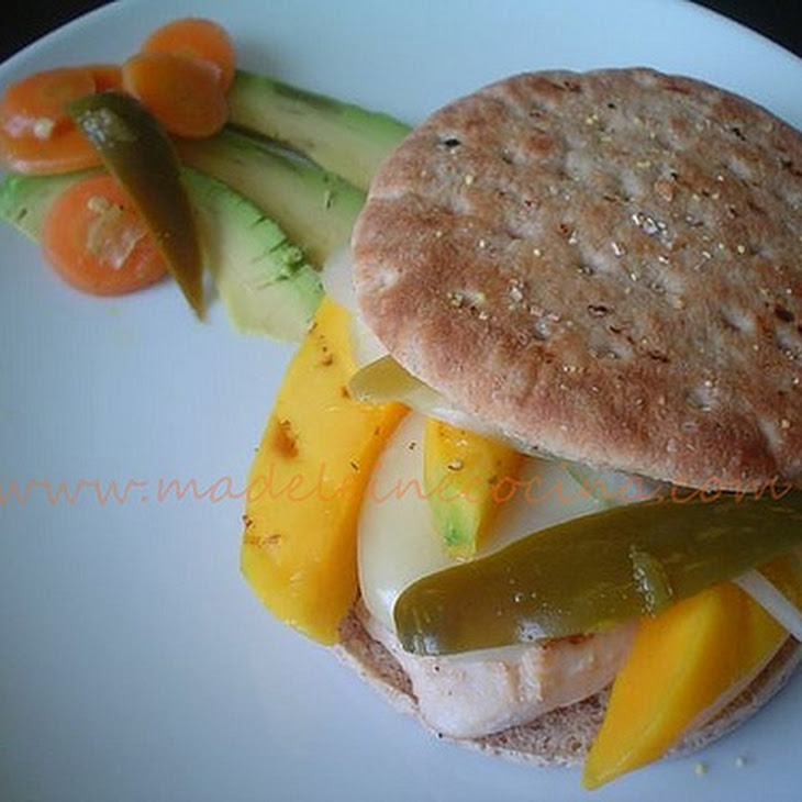 Chicken and Mango Hamburgers Recipe