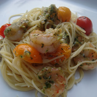 Pesto Shrimp Pasta.