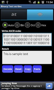 Binary Text co/dec Mobile- screenshot thumbnail
