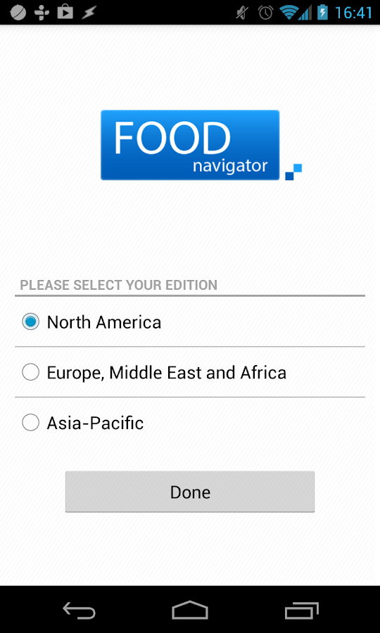 FoodNavigator- screenshot