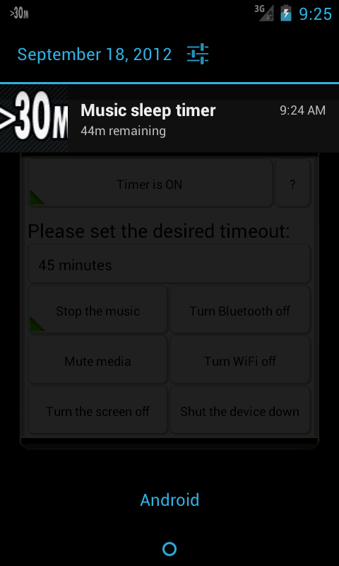 Music Sleep Timer- screenshot