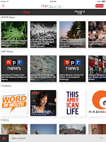 Screenshot of NHPR Radio