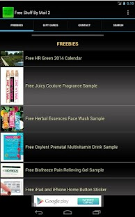 Free Stuff And Samples By Mail - screenshot thumbnail