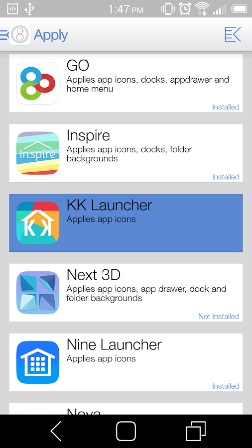 Ultimate iOS8 Launcher Theme - screenshot