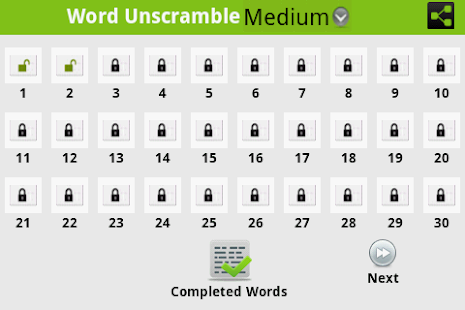 Word Unscramble -  Inglés - screenshot thumbnail