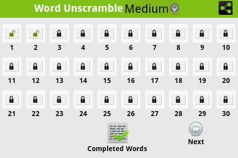 Word Unscramble -  Inglés - screenshot