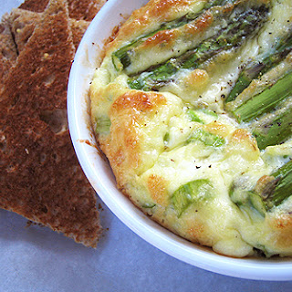 Egg Souffle With Bacon And Asparagus.