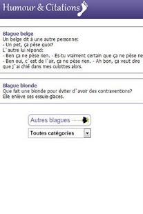 Humour, blagues et Citations - screenshot thumbnail