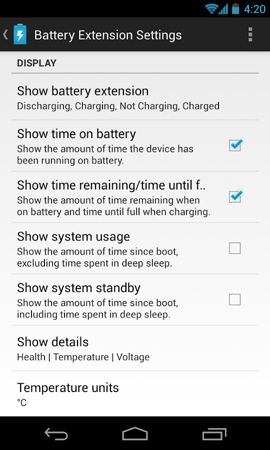 DashClock Battery Extension - screenshot