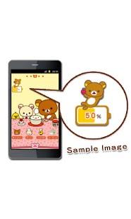 玩個人化App|Rilakkuma Battery Widget 1免費|APP試玩
