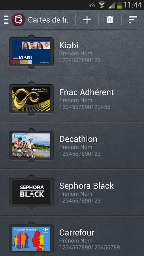 Fidall cartes de fidélité - screenshot